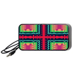 Waves In Retro Colors                                           Portable Speaker by LalyLauraFLM