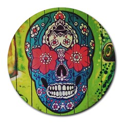 Mexican Skull Round Mousepads by alllovelyideas