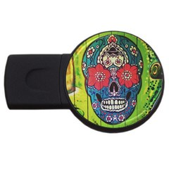 Mexican Skull Usb Flash Drive Round (4 Gb) by alllovelyideas