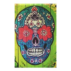Mexican Skull Shower Curtain 48  X 72  (small)  by alllovelyideas
