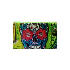 Mexican Skull Cosmetic Bag (xs) by alllovelyideas