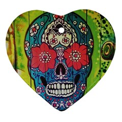 Mexican Skull Ornament (heart) by alllovelyideas