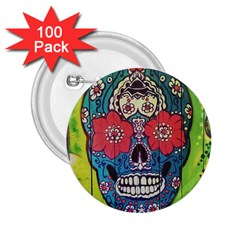 Mexican Skull 2 25  Buttons (100 Pack)  by alllovelyideas
