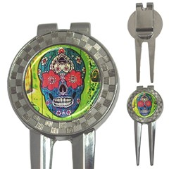 Mexican Skull 3 In 1 Golf Divots by alllovelyideas