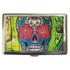 Mexican Skull Cigarette Money Case by alllovelyideas