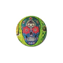Mexican Skull Golf Ball Marker (4 Pack) by alllovelyideas