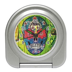 Mexican Skull Travel Alarm Clock