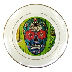 Mexican Skull Porcelain Plates by alllovelyideas
