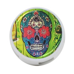 Mexican Skull 4 Port Usb Hub (one Side) by alllovelyideas