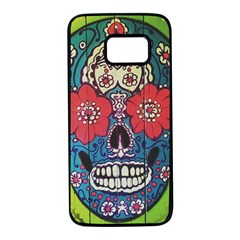 Mexican Skull Samsung Galaxy S7 Black Seamless Case