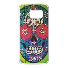 Mexican Skull Samsung Galaxy S7 White Seamless Case