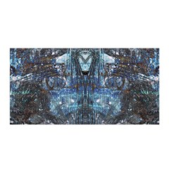 Angel Wings Blue Grunge Texture Satin Wrap by CrypticFragmentsDesign