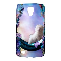 Cute Little Maltese Puppy On The Moon Samsung Galaxy S4 Active (i9295) Hardshell Case by FantasyWorld7