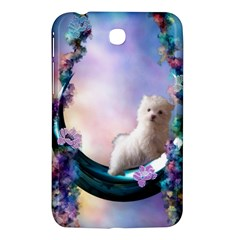 Cute Little Maltese Puppy On The Moon Samsung Galaxy Tab 3 (7 ) P3200 Hardshell Case  by FantasyWorld7