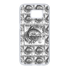 Fish Samsung Galaxy S7 Edge White Seamless Case