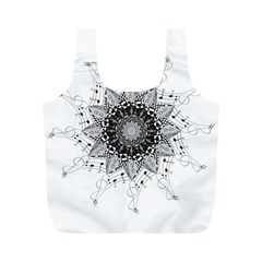 Mandala Misic Full Print Recycle Bag (m) by alllovelyideas