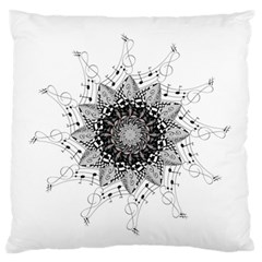 Mandala Misic Large Flano Cushion Case (two Sides) by alllovelyideas