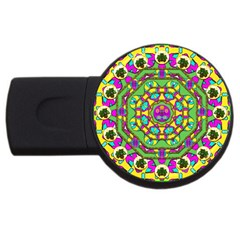 Cool Colors To Love And Cherish Usb Flash Drive Round (2 Gb)