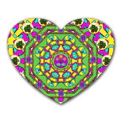 Cool Colors To Love And Cherish Heart Mousepads by pepitasart