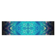 Boho Hippie Tie Dye Retro Seventies Blue Violet Satin Scarf (oblong) by CrypticFragmentsDesign