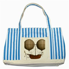 Air Ship 1300078 1280 Striped Blue Tote Bag by vintage2030