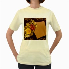 Place Card 1954137 1920 Women s Yellow T-shirt by vintage2030