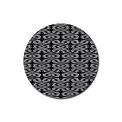 Monochrome Centipede Arabesque Rubber Round Coaster (4 Pack)  by linceazul
