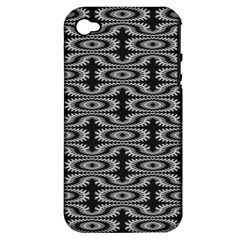 Monochrome Centipede Arabesque Apple Iphone 4/4s Hardshell Case (pc+silicone) by linceazul