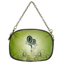 Wonderful Butterlies , Green Colors Chain Purse (one Side)