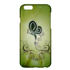 Wonderful Butterlies , Green Colors Apple Iphone 6 Plus/6s Plus Hardshell Case by FantasyWorld7