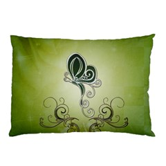 Wonderful Butterlies , Green Colors Pillow Case by FantasyWorld7