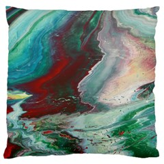 Dreams In Color Large Cushion Case (two Sides) by WILLBIRDWELL