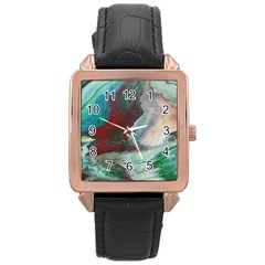 Dreams In Color Rose Gold Leather Watch  by WILLBIRDWELL