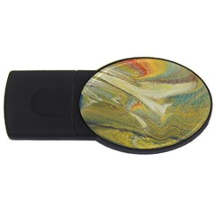 Rainbow Tornado Usb Flash Drive Oval (4 Gb) by WILLBIRDWELL