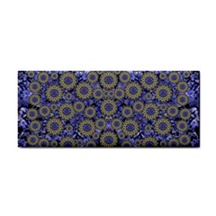 Blue Small Wonderful Floral In Mandalas Hand Towel by pepitasart
