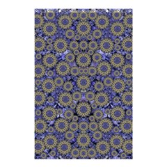 Blue Small Wonderful Floral In Mandalas Shower Curtain 48  X 72  (small)  by pepitasart