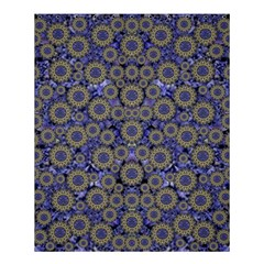 Blue Small Wonderful Floral In Mandalas Shower Curtain 60  X 72  (medium)  by pepitasart