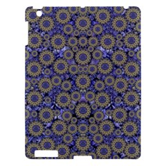 Blue Small Wonderful Floral In Mandalas Apple Ipad 3/4 Hardshell Case by pepitasart
