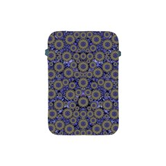 Blue Small Wonderful Floral In Mandalas Apple Ipad Mini Protective Soft Cases by pepitasart