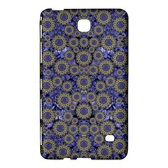 Blue Small Wonderful Floral In Mandalas Samsung Galaxy Tab 4 (8 ) Hardshell Case  by pepitasart