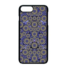Blue Small Wonderful Floral In Mandalas Apple Iphone 7 Plus Seamless Case (black) by pepitasart