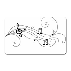 Music Partition Magnet (rectangular) by alllovelyideas