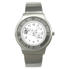 Music Partition Stainless Steel Watch by alllovelyideas