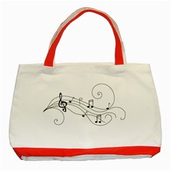 Music Partition Classic Tote Bag (red) by alllovelyideas
