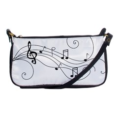 Music Partition Shoulder Clutch Bag by alllovelyideas