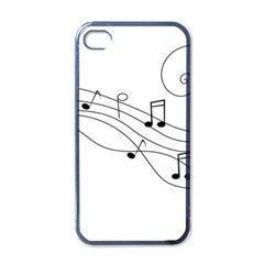 Music Partition Apple Iphone 4 Case (black) by alllovelyideas