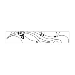 Music Partition Flano Scarf (mini) by alllovelyideas