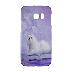 Cute Little Maltese, Soft Colors Samsung Galaxy S6 Edge Hardshell Case by FantasyWorld7