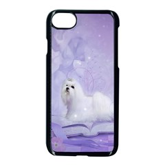 Cute Little Maltese, Soft Colors Apple Iphone 7 Seamless Case (black) by FantasyWorld7