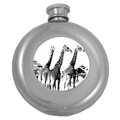 Giraffe  Round Hip Flask (5 Oz)